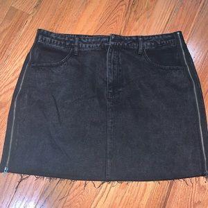 Forever 21 distressed mini skirt